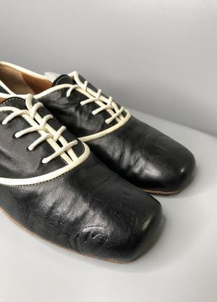 Туфли оксфорды женские с квадратным носком мысли кожаные cuccinelli fabiana4 фото