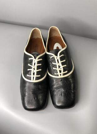 Туфли оксфорды женские с квадратным носком мысли кожаные cuccinelli fabiana7 фото