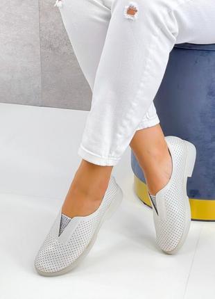 Туфли летние с перфорацией3 фото