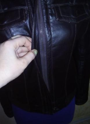 Кожаная куртка бомбер/куртка/пуховик/косуха/бомбер/пиджак/кофта/кардиган/жакет7 фото