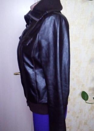 Кожаная куртка бомбер/куртка/пуховик/косуха/бомбер/пиджак/кофта/кардиган/жакет3 фото