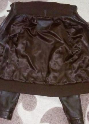Кожаная куртка бомбер/куртка/пуховик/косуха/бомбер/пиджак/кофта/кардиган/жакет10 фото