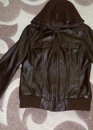 Кожаная куртка бомбер/куртка/пуховик/косуха/бомбер/пиджак/кофта/кардиган/жакет9 фото