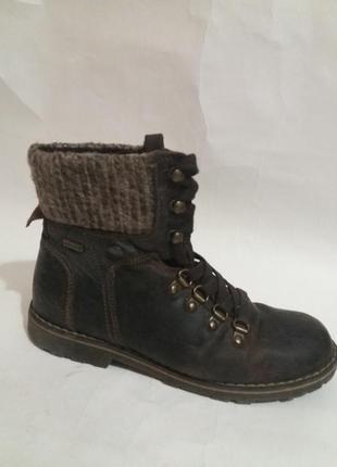 Ботинки кожаные осень, еврозима  р. 35