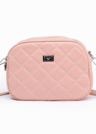 Стильная женская сумка / розовая / новинка