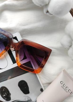 Очки окуляри солнцезащитные солнце тренд стиль 60-х крупные большие яркие цветные новые5 фото