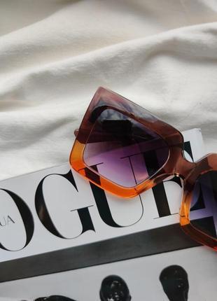 Очки окуляри солнцезащитные солнце тренд стиль 60-х крупные большие яркие цветные новые3 фото