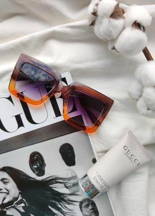 Очки окуляри солнцезащитные солнце тренд стиль 60-х крупные большие яркие цветные новые2 фото