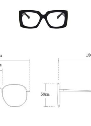 Очки окуляри солнцезащитные солнце тренд стиль 60-х крупные большие яркие цветные новые7 фото
