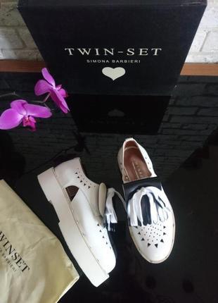 Premium туфли лоферы босоножки 37р twin set италия оригинал