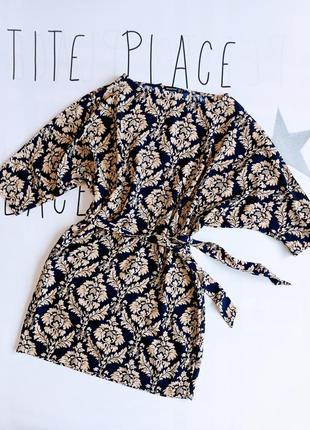 Платье женское легкое с принтом узоры с поясом atmosphere