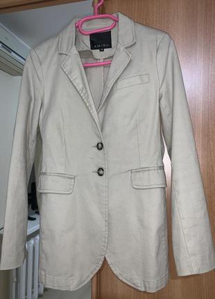 Блайзер/женский пиджак коттоновый2 фото