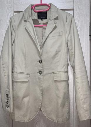 Блайзер/женский пиджак коттоновый