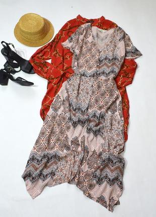 Віскозне плаття міді з принтом