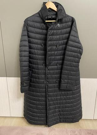 Стильное тёплое пальто пуховик emporio armani