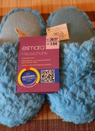 Фирменные женские тапочки 36 esmara