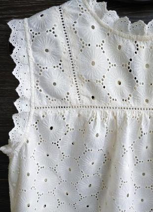 Красивая блуза из прошвы h&m.3 фото