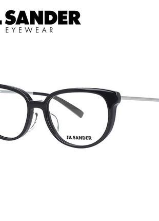 Новая оправа jil sander премиум очки оригинал чёрный лак жиль зандер
