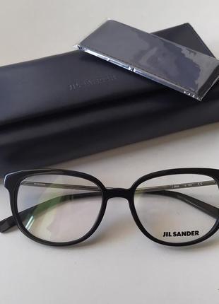 Новая оправа jil sander премиум очки оригинал чёрный лак жиль зандер2 фото