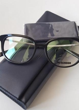 Новая оправа jil sander премиум очки оригинал чёрный лак жиль зандер3 фото
