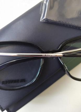 Новая оправа jil sander премиум очки оригинал чёрный лак жиль зандер4 фото