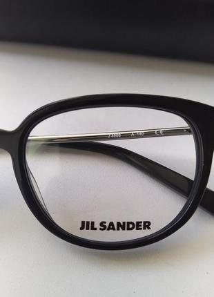 Новая оправа jil sander премиум очки оригинал чёрный лак жиль зандер5 фото