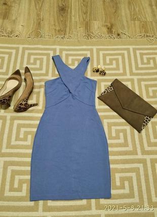 Лавандовое платье- мини н&m