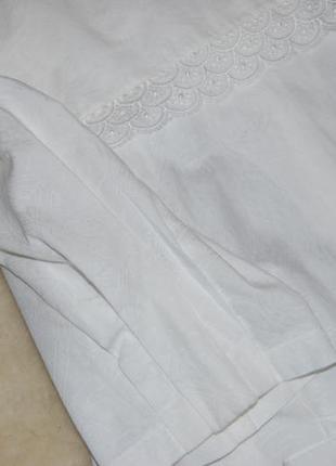 Нежная винтажная хлопковая блуза с отложным воротником и рукава-фонарики gede в идеале6 фото