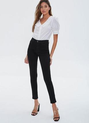 Нежная винтажная хлопковая блуза с отложным воротником и рукава-фонарики gede в идеале1 фото