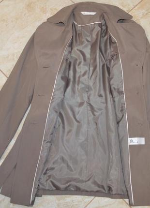Брендовый коттоновый плащ тренч с поясом и карманами bhs вьетнам этикетка7 фото