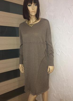Fogal великолепное свободное платье из тоненького шерстяного трикотажа