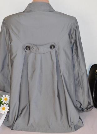 Брендовый серый плащ тренч с карманами autograph полиамид этикетка2 фото