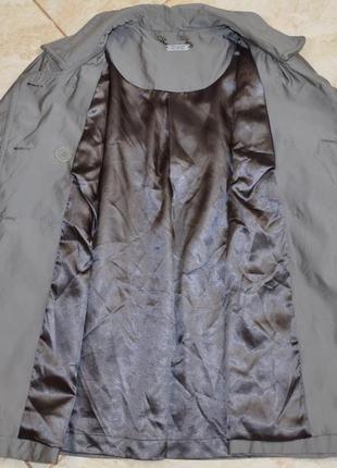 Брендовый серый плащ тренч с карманами autograph полиамид этикетка7 фото