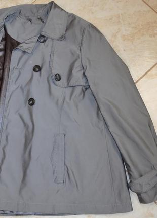 Брендовый серый плащ тренч с карманами autograph полиамид этикетка6 фото
