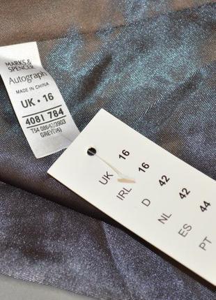 Брендовый серый плащ тренч с карманами autograph полиамид этикетка3 фото