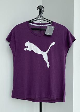 Puma футболка оригинал свободная с логотипом повседневная спортивная
