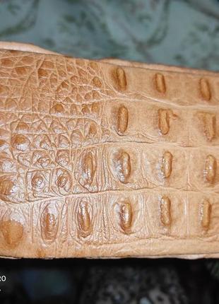 Рыжая сумочка из натуральнойкожи, италия3 фото