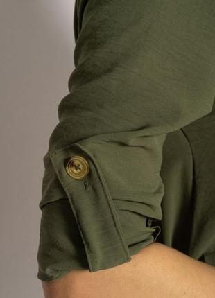 Платье-рубашка на завязках 633f001 горчичный и оливковый5 фото