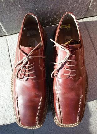 Кожаные туфли borelli 45-46р