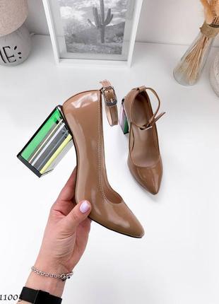 Туфли на каблуке карамель