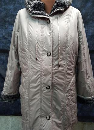 Женская куртка на подстежке больших размеров