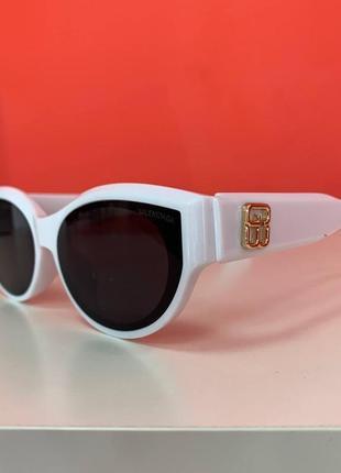 Очки брендовые узкие модные белые