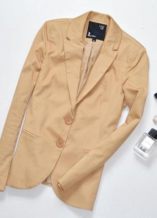 Tally weijl стильный приталенный жакет,цвета кемел,жакет деловой1 фото