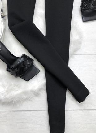 Чорні, плотні, стрейчеві лосини zara3 фото