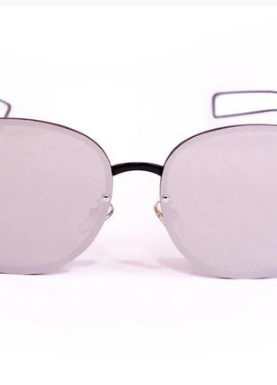 Модные солнцезащитные очки зеркальные бабочка