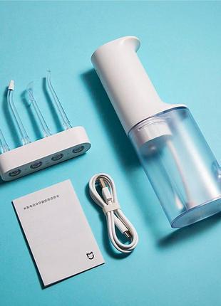Ирригатор xiaomi mijia meo701 electric flusher oral irrigator полный комплект, 4 насадки
