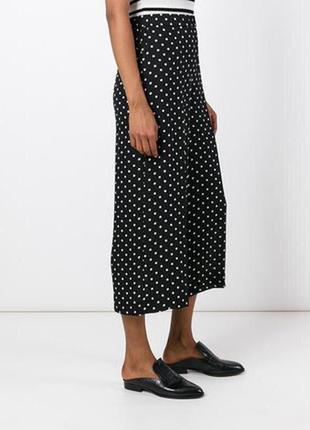Кюлоты брюки в горошек с ремнем zara h&m mango2 фото