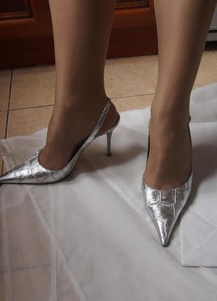 Туфли ripa 39 26 см кожа cеребро италия бренд