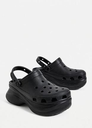 Сабо кроксы crocs classic bae clog black