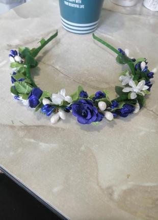 Обруч квітковий для дівчинки